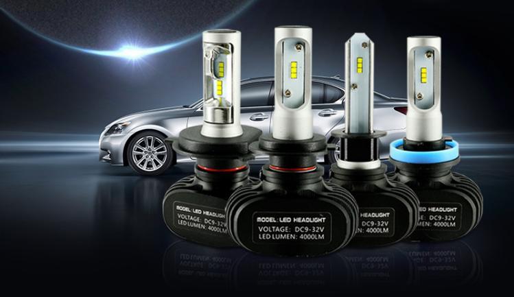 Hi/Lo Beam CSP H13 Car Bulb Fanless Csp Ip65 4500K 6500K 36W 3600Lm Waterproof Led Headlamp H13 Led