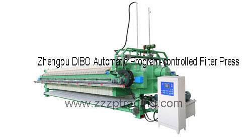 Filter press Zhengpu DIBO Automatic Program-Controlled Filter Press
