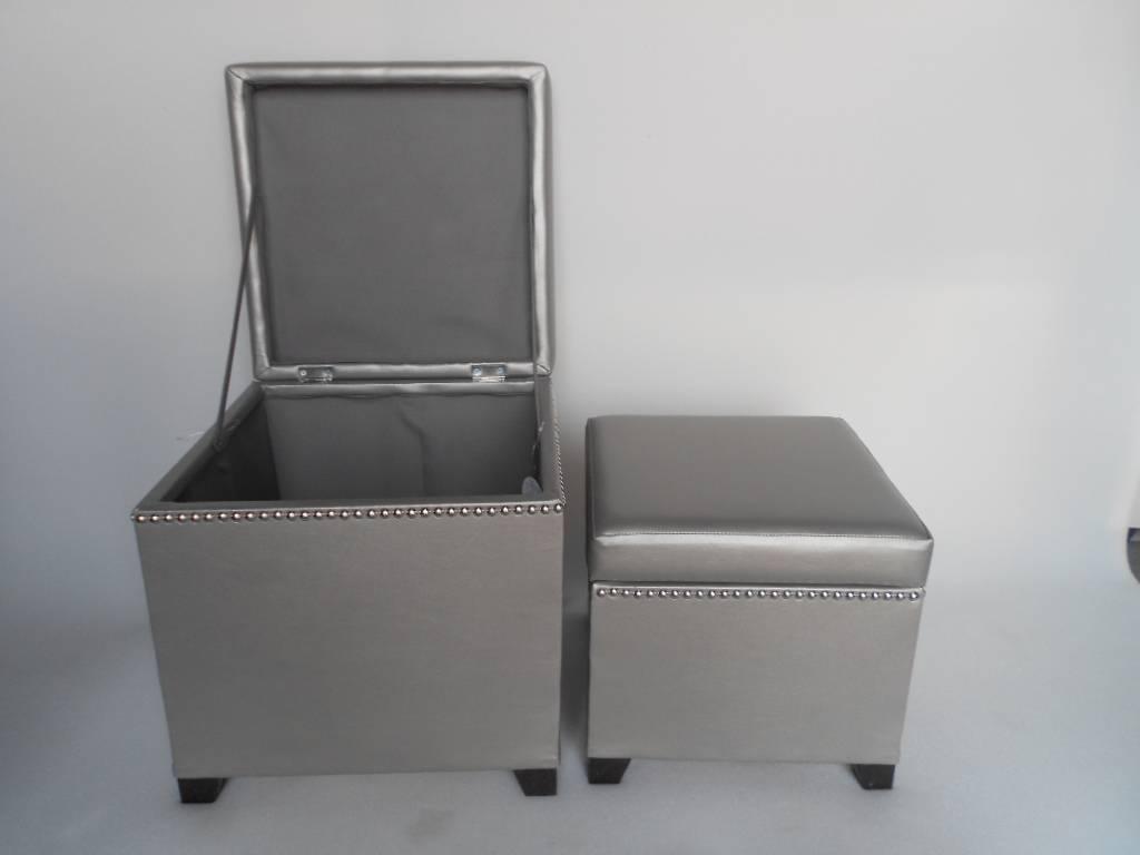 PVC storage box  with silver studs