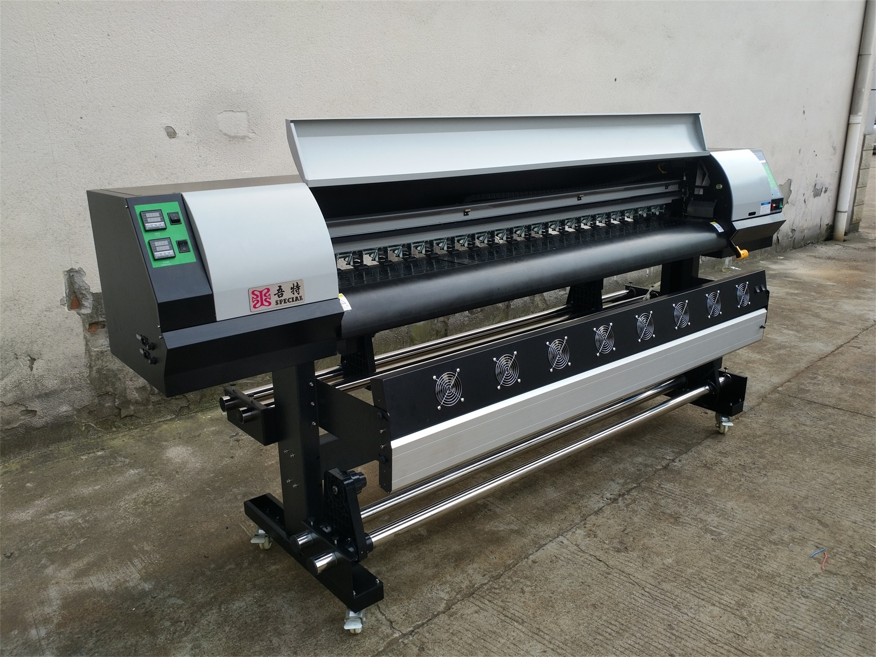 High Speed and Durable Eco Solvent Printer with Industrial heads Ricoh GEN5i 1.8m 6ft 55m²/h