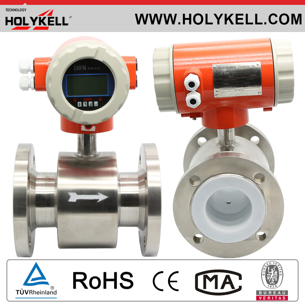 Cheap Price DN10~2400mm Flanged Types Milk Water Electromagnetic Flow Meter