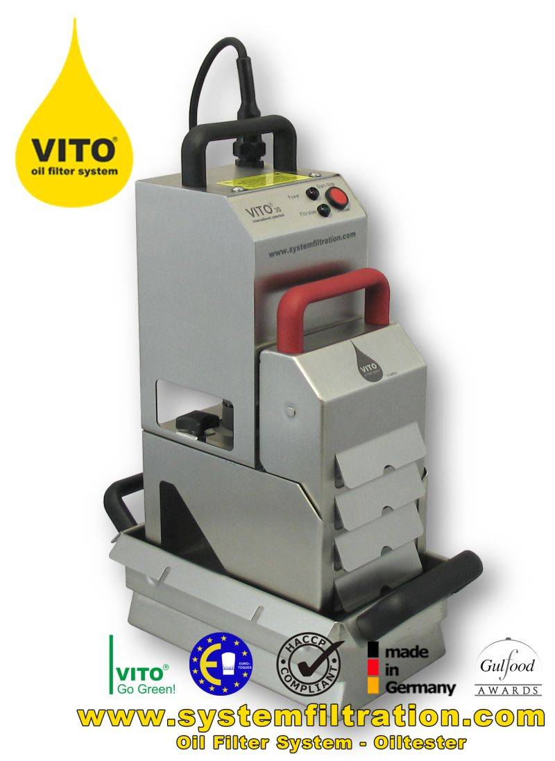 VITO 30 oil filter system, shortening filter, frying oil filter