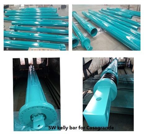 Piling Rig Parts Rotary Drilling Friction Interlocking Kelly Bar for Liebherr Sunward CASANGRADE C60