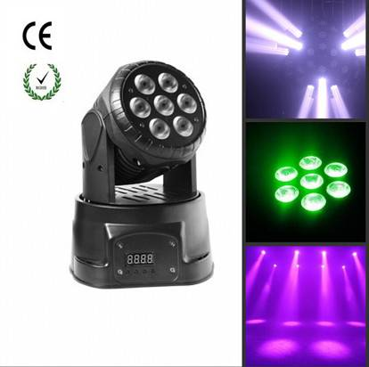 7*10w RGBW LED moving head wash light For Stage Disco Party