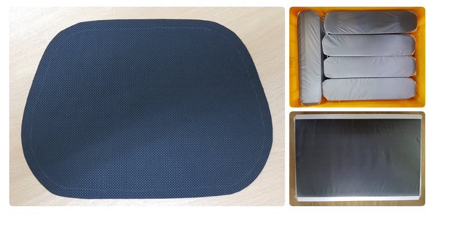 ALUMINUM PAD, PET ANTINOISE PAD, BOLT MOUNTING TAPE, ASPHALT PAD, NON-WOVEN FABRIC ANTINOISE PAD