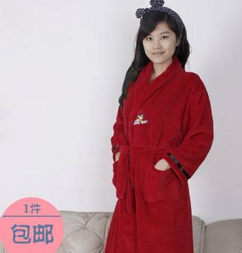 Ladies Coral Fleece Robe