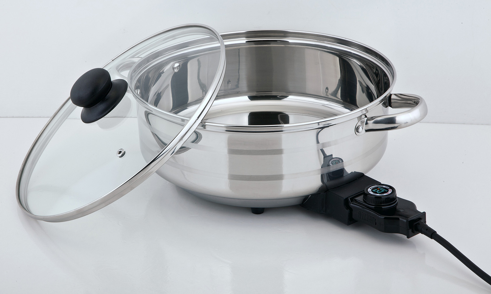 multifunction Non-Stick Coating electric skillet frying pan with glass lid