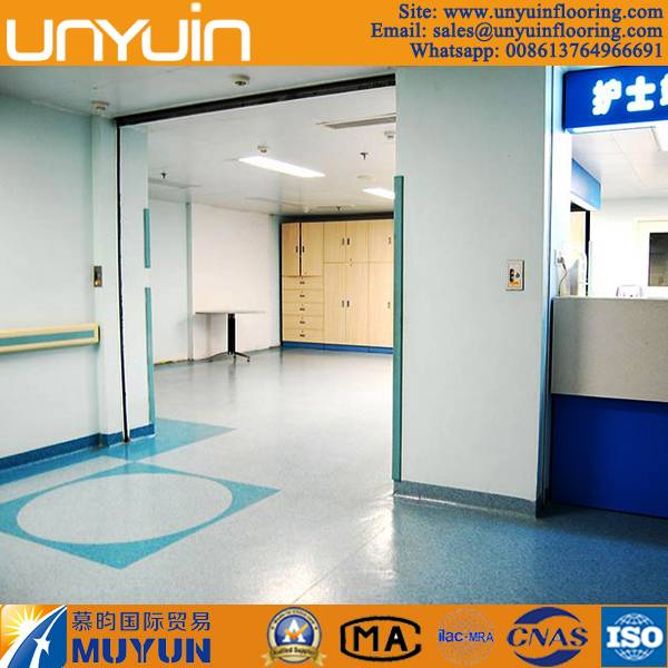 Hospital Usage Antibacterial PVC Roll Vinyl Floor