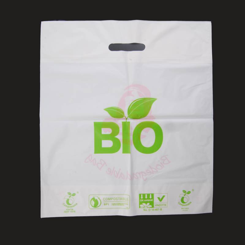 100% biodegradable and compostable die-cut bags