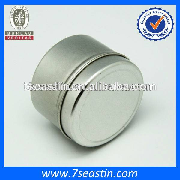 2014 small round flavour candle tin can/ tinplate wax packaging box wholesale