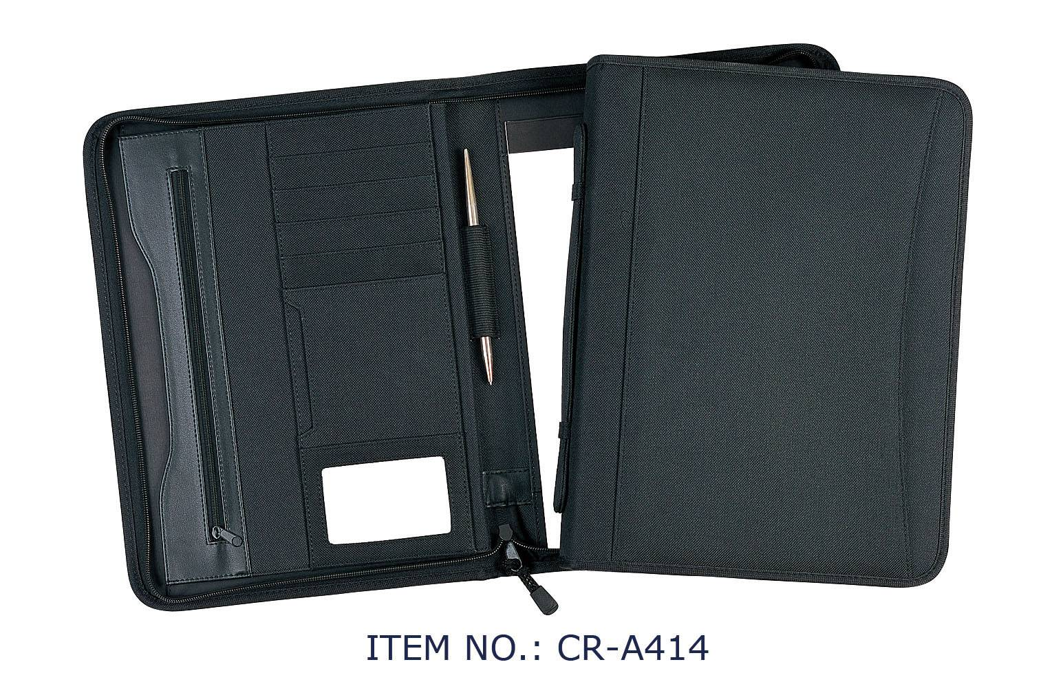 a4 presentation file folders / high quality leather document folders / zippered