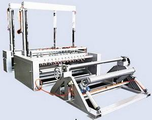 Gauze slitting cutting and rewinding machine