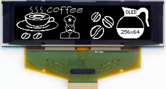 Graphic OLED Display Module PG25664AW/Y/G/B