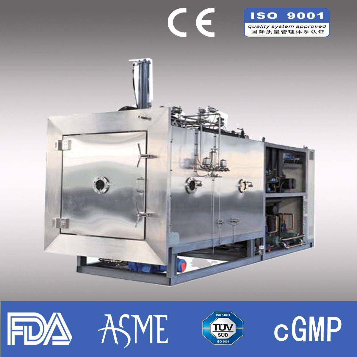 Freeze dryer/ Pharmaceutical freeze dryer/ industrial freeze dryer/Capacity 260kg