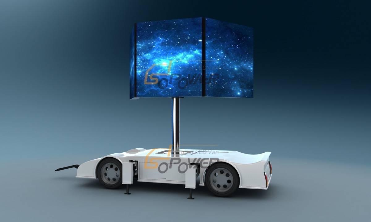 SoPower Mobile Marketing Trailer Mounted LED Screen Vehicle iTrailer6