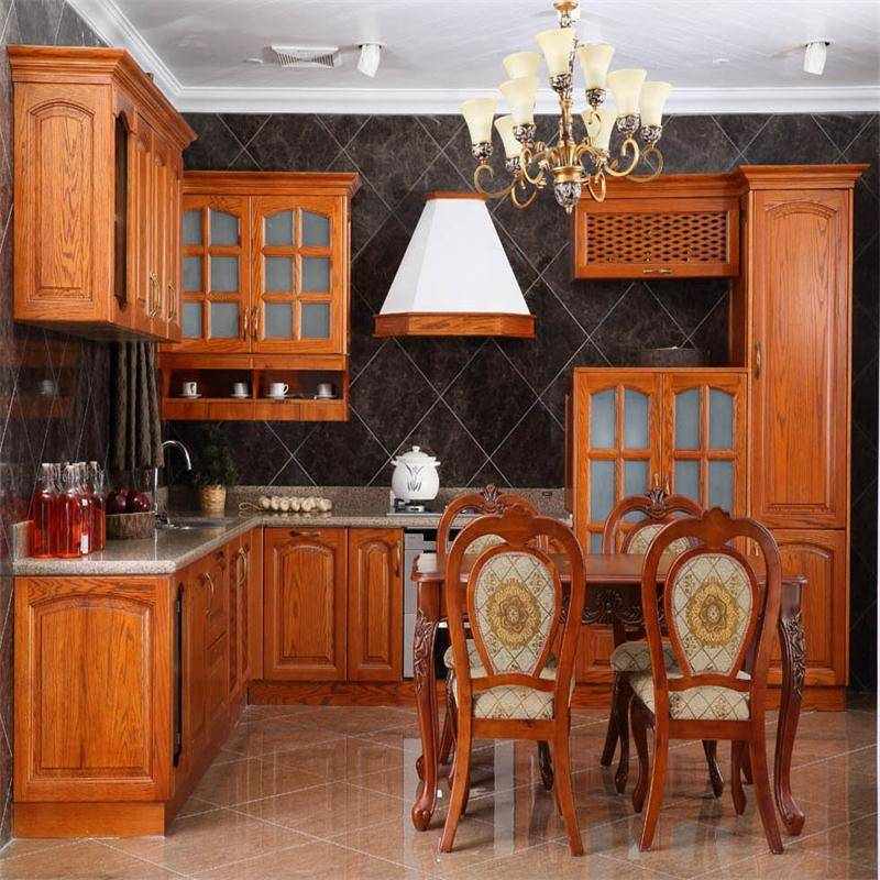 solid wood kitchen furniture kitchen cabinet 169