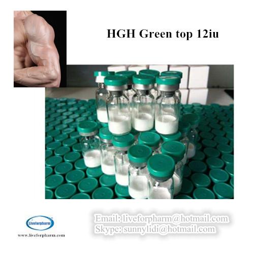 PEPTIDE HGH Green top 12iu/vial HGH GREEN TOP 12IU 98.8% above purity