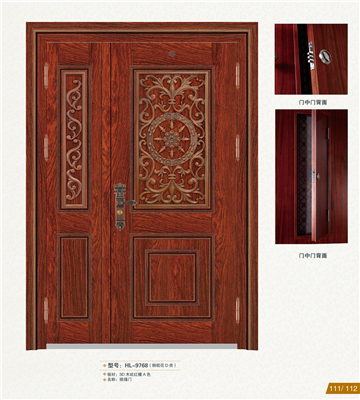Ventilation stainless steel door in door, screen door design HL-9768