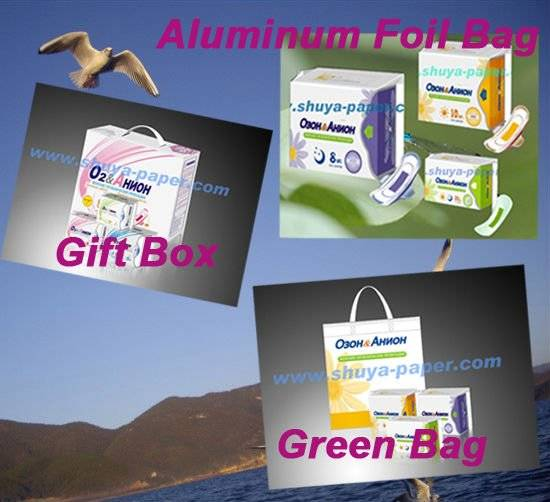 gift box with anion sanitary napkin