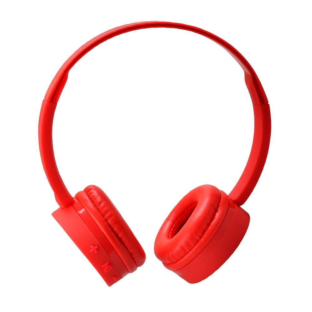 wireless red TPE comfortable material bluetooth headset headphone