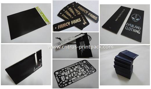 Black Hanging Tags & Black Cards Printing