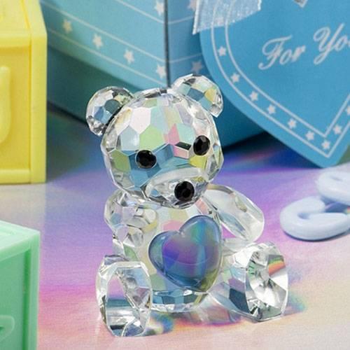 Blue Crystal Teddy Bear Weeding Favor