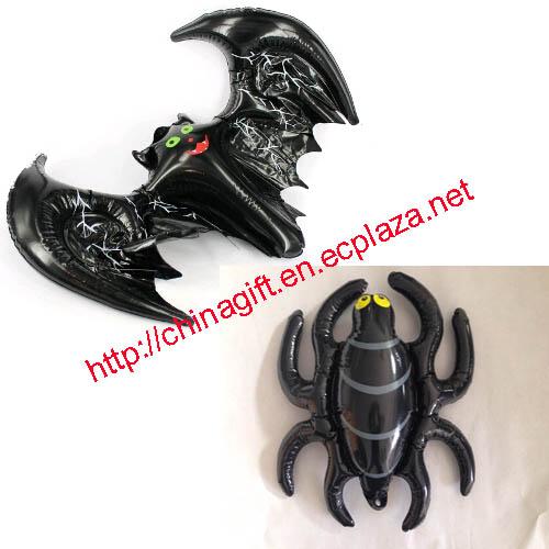 Halloween Inflatable Bat & Spider