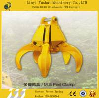 360 degree rotation hydraulic pressure systerm log grapple