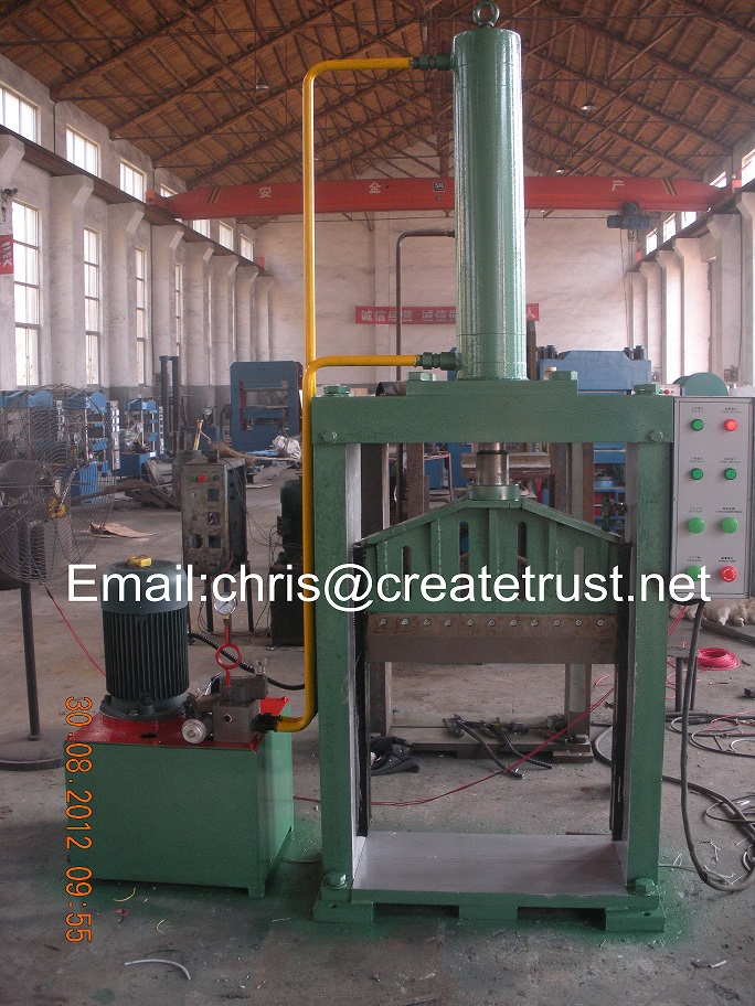 single knife hydraulic rubber bale cutter/rubber bale cutting machine