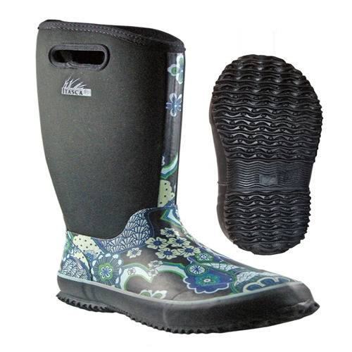 Girls fashion Blue neoprene boots rain boots