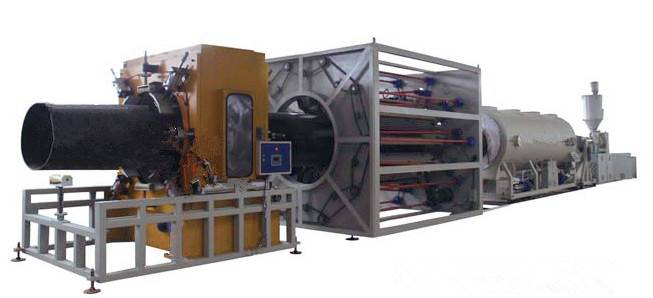 Thermal insulation pipe machine