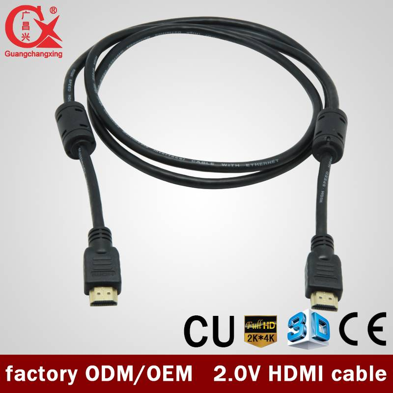 quality good copper material black color PVC jacket 1.4v HDMI cable