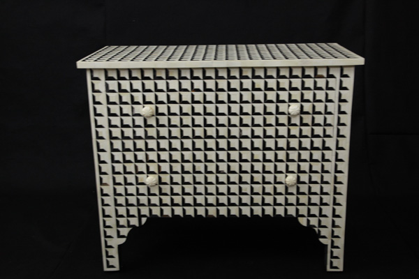 Horn And Bone Inlay Chest Drawers