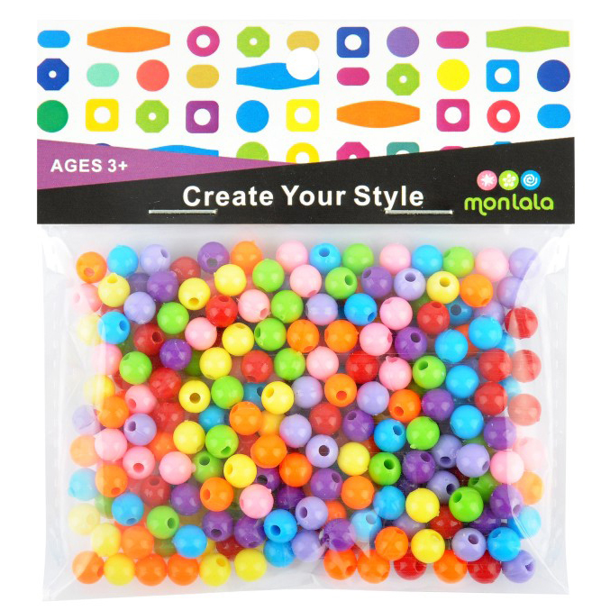 round beads acrylic beads jewelry beads loose beads DIY beads