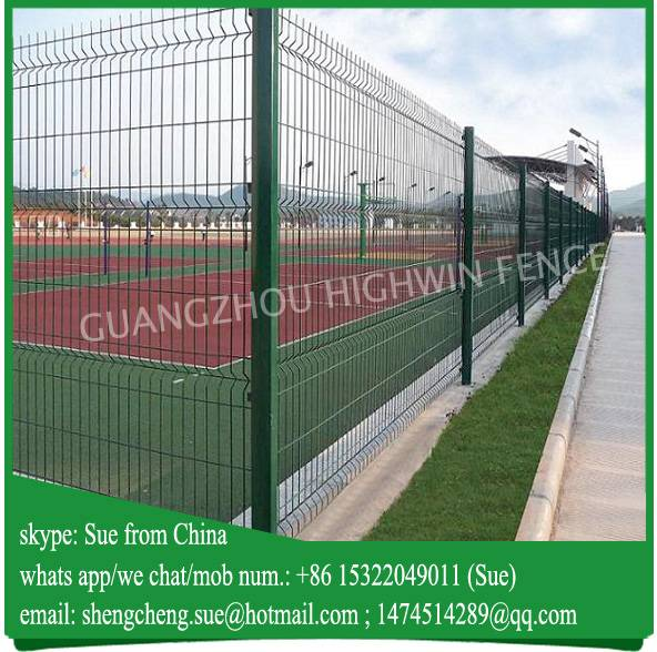 Green Electrostatic powder coated welded fence panels for Oman
