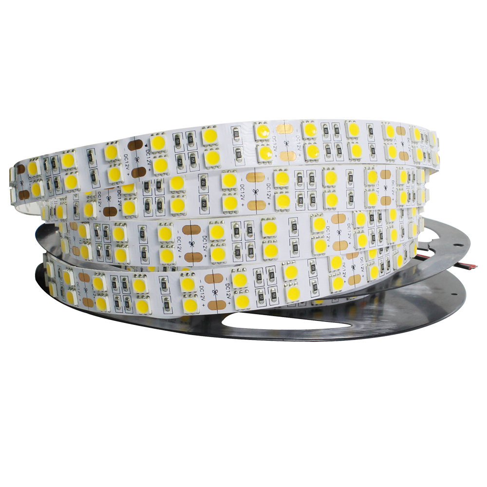 Super Bright 5mlot 5050 SMD 600 LED Strip DC12V not waterproof Flexible Light 120 ledsm,White Warm