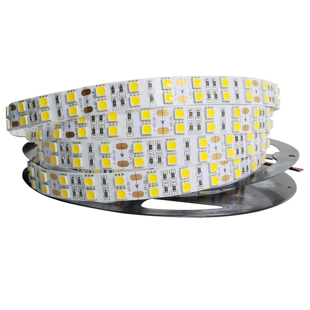 Super Bright 5mlot 5050 SMD 600 LED Strip DC12V not waterproof Flexible Light 120 ledsm,White Warm