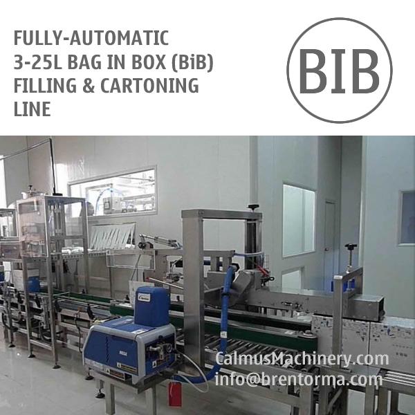 Fully-automatic 5-10-20 Litre BiB Filling Machine Bag in Box Cartoning Line