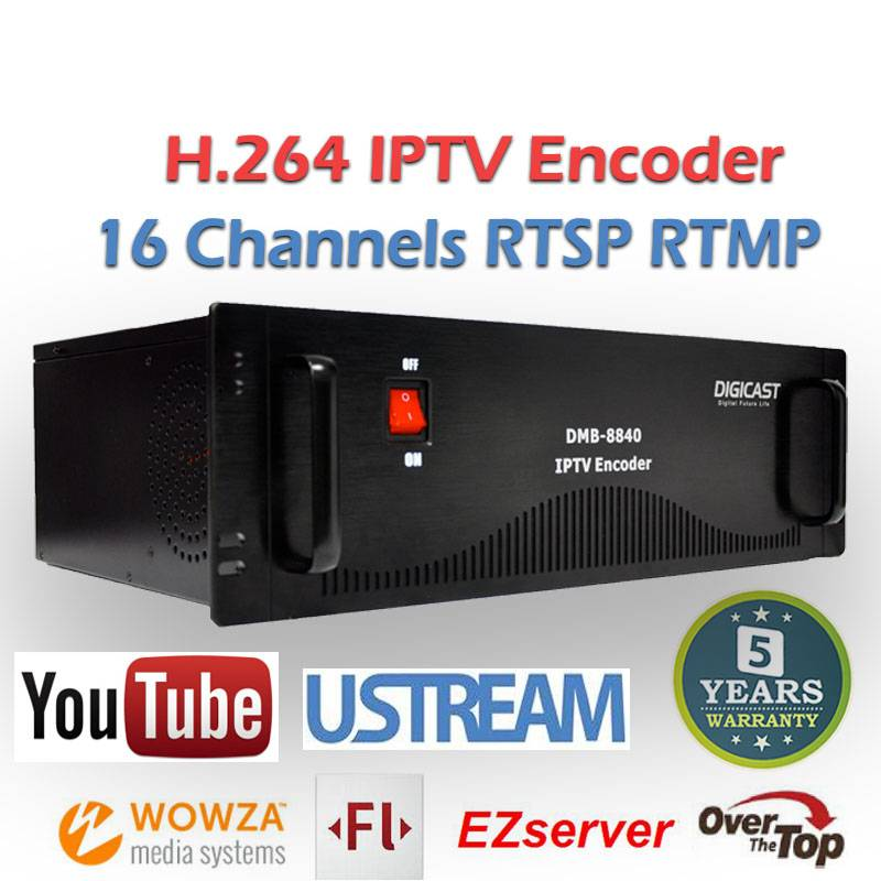 Compact Mini IPTV HD Video VGA H.264 IPTV Encoder
