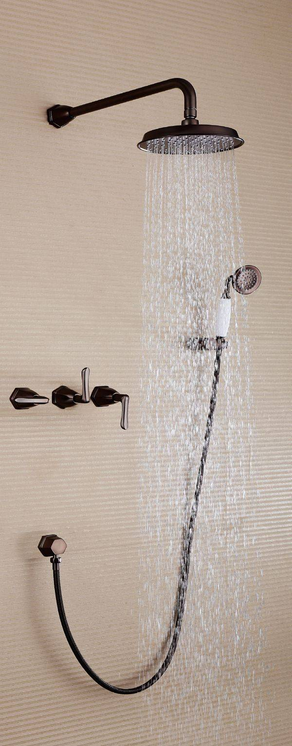 Modern brass in-wall bathroom rainfall concealed faucet