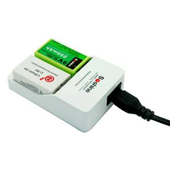Soshine 9V Li-Ion/Ni-MH Rechargeable battery charger