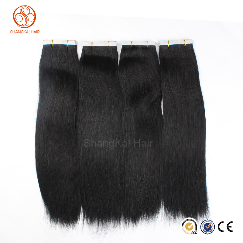 Tape Keratin Hair Extension PU Skin Weft Natural color