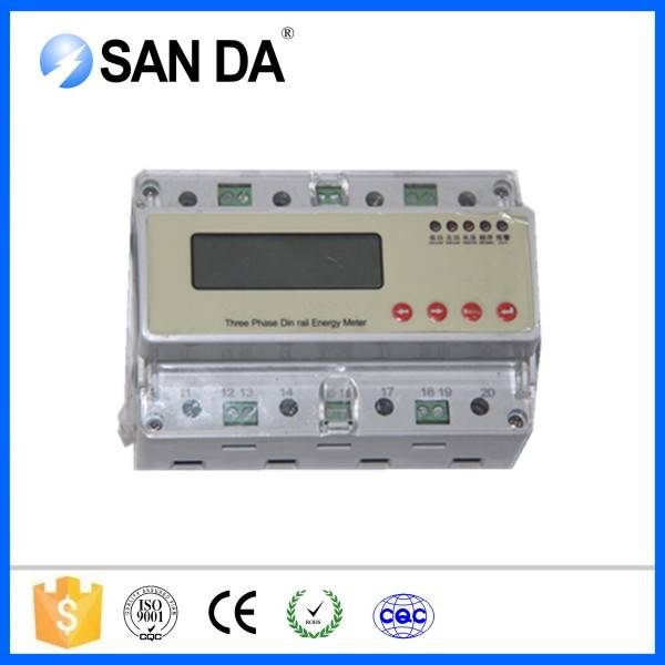 Three Phase Four Wired LCD Display DC Energy Meter