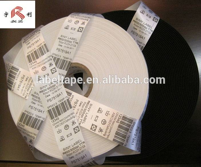 Washable Barcode Label with Non Frayed Edge
