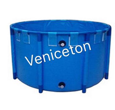 Veniceton Round Fish Farming Tank, Custom Foldable Fish Tank