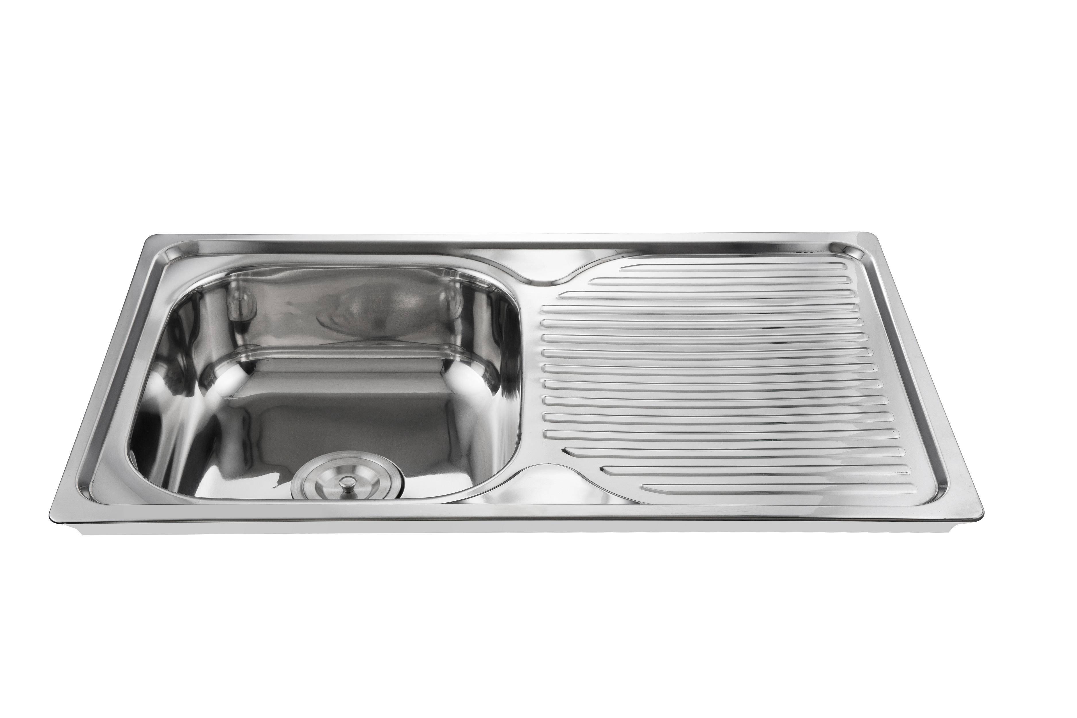 Modern design cheap price topmount kitchen sink WY-7848