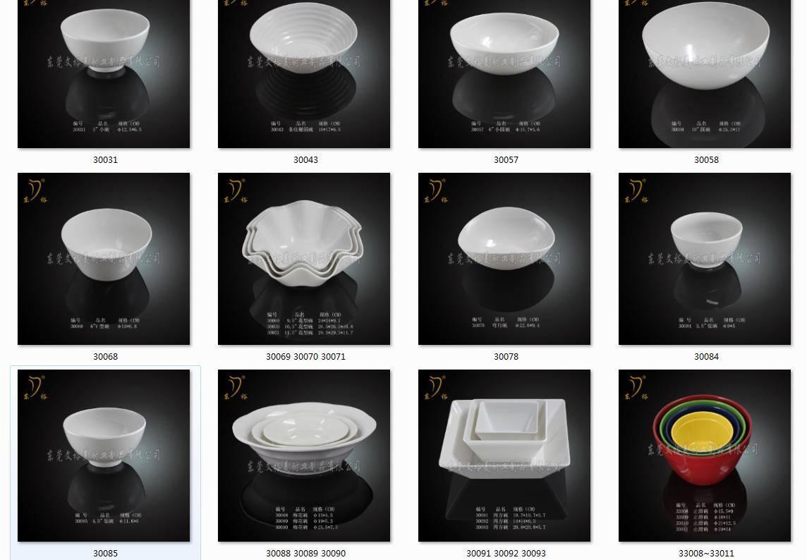 100% melamine tableware melamine bowl melamine
