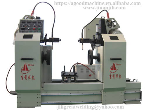 Double Circular Seam Welding Machine for Pipe & Flange & Air Tank