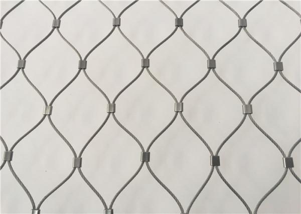Stainless Steel Wire Rope Mesh/ Zoo Mesh/ Woven Wire Cable Net/ Animal Enclosure Mesh