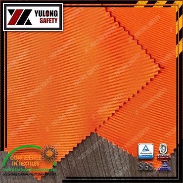 100% Cotton Fire Proof And Hi-Viz Fabric Use For Safety Workwear